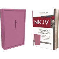 NKJV, Reference Bible, Personal Size Giant Print, Leathersoft, Pink, Red Letter Edition, Comfort Print